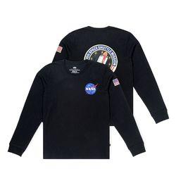 알파인더스트리 나사 스페이스 셔틀 티셔츠 BLACK