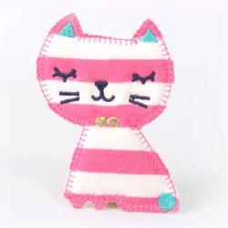 분홍줄무늬 고양이와펜[1666]