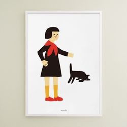 우리 고양이 보고 가 M 유니크 인테리어 디자인 포스터 A3(중형)