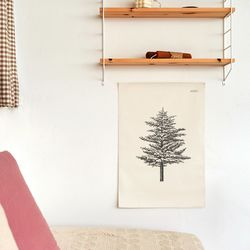 나무드로잉 패브릭 포스터.가리개커튼 (M 사이즈)