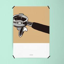 바리스타3 M 유니크 인테리어 디자인 포스터 카페 A3(중형)