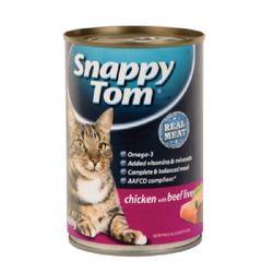 [1+1] 스내피톰 치킨 위드 비프 리버 400gx12  고양이 캔