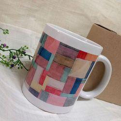 한국전통조각보 머그컵
