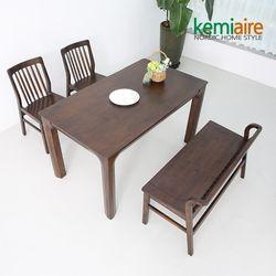 로드니 4인원목식탁세트(벤치의자) KEP-401
