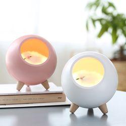 모모  충전식 LED 고양이 무드등(전단계 밝기조절)