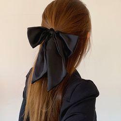 새틴 왕 리본 곱창 머리끈