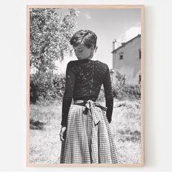 1955 햅번 사진포스터 (a4)