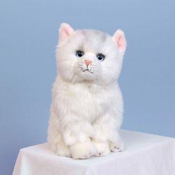 이젠돌스 위더펫 리얼 고양이 인형 페르시안(화이트)