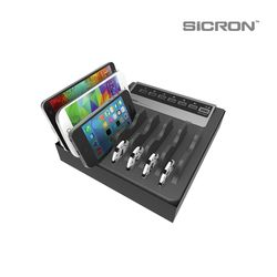 SICRON 9V 12V 7구 고속 멀티 USB 충전기(40W) ENC-78Q