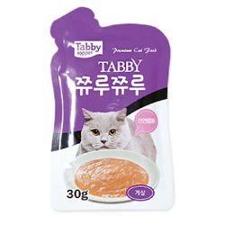 테비 쮸루쮸루 게살 30g 고양이간식고양이사료영양제스프