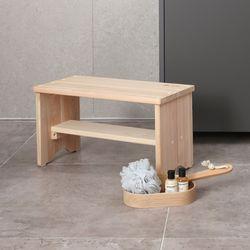 편백나무 목욕의자(와이드형)