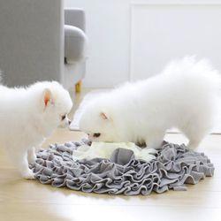 펫크미 플라워 노즈워크 강아지 장난감 방석