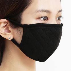 단순생활 퀼트 마스크 검정