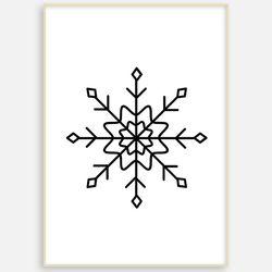 패브릭포스터 크리스마스 눈꽃 액자 [A3]
