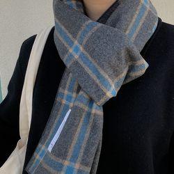 natural blue grey muffler ( hand made )