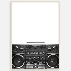 모던 거실 북유럽 인테리어 액자 라디오 [A3]