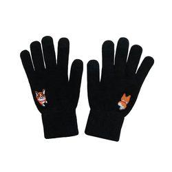 black happy corgi glove