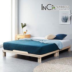 평상마루 소나무원목 저상형 침대프레임 슈퍼싱글