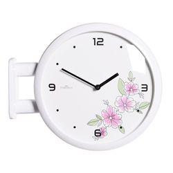 양면에서 시간확인이 가능한 모던양면시계 플라워