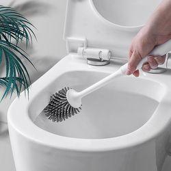변기 구석구석 깨끗하게 벽걸이형 변기솔