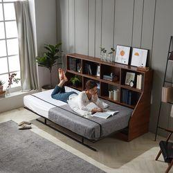 이룸 수납형 폴딩베드 슈퍼싱글침대 책장형 풀세트(독립매트)
