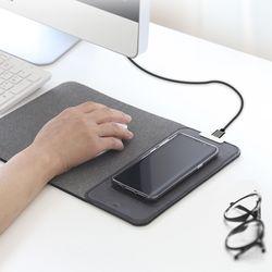휴대폰 고속무선충전 마우스 단패드