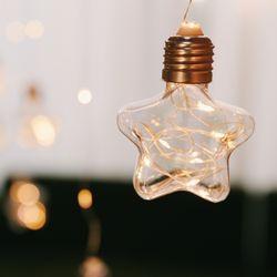 비눗방울 별 커튼 LED전구 3m USB-크리스마스장식소품