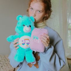 CARE BEARS X RONRON FUR POUCH PINK