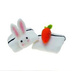 토끼랑당근이랑 입체 양말 WHITE