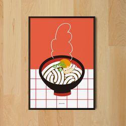우동 한그릇 M 유니크 인테리어 디자인 포스터 A3(중형)