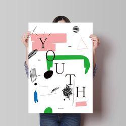 두들 유쓰 youth M 유니크 인테리어 디자인 포스터 A3(중형)