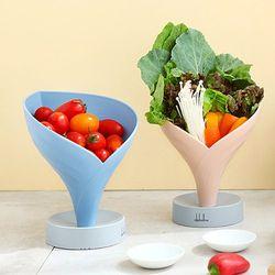 물빠짐 쌈채소 야채접시(깔때기)(4color)