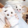 아이폰 귀여운 캐릭터 고양이 실리콘 겨울 털 케이스