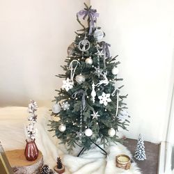 메종화이트 크리스마스 트리세트 120cm(앵두전구 1개추가)