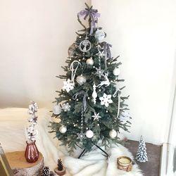 메종화이트 크리스마스 트리세트 120cm(앵두전구 2개추가)