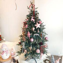 블랑핑크 크리스마스 트리세트 120cm(앵두전구 1개추가)