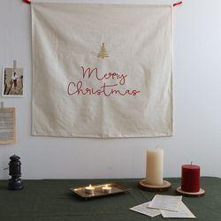 크리스마스 자수레터링 패브릭포스터(3color)-꼭꼬핀2P포함