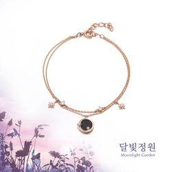 청금석 보름달 달빛정원 원터치 실버 팔찌 OTB119V01OPB