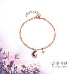 청금석 초승달 달빛정원 드롭 실버 팔찌 OTB119V02OPB