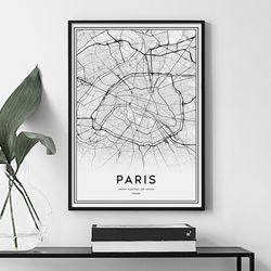 파리 지도 그림 인테리어 액자 A3 포스터
