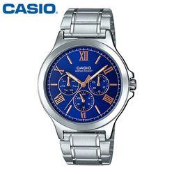 카시오 시계 MTP-V300D-2AU 메탈밴드 남성용 패션시계