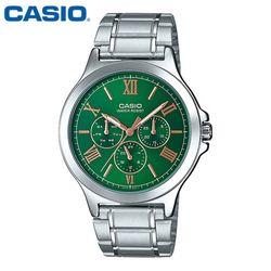 카시오 시계 MTP-V300D-3AU 메탈밴드 남성용 패션시계