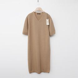 Laine Cashmere Wool V-Neck Dress - New