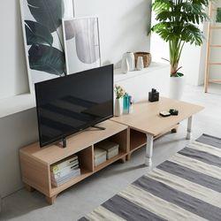 나비 다용도 테이블 세트(오픈수납장+다용도테이블)