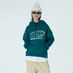 Back logo point hoodie-emerald