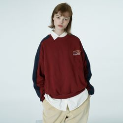 Quarter ellipse logo sweatshirt-wine