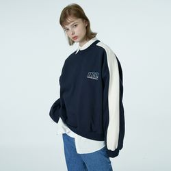 Quarter ellipse logo sweatshirt-navy