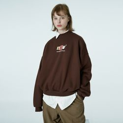 Crewneck ncv sweatshirt-brown