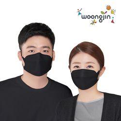 KF94 웅진 황사 미세먼지 검정 마스크 50매