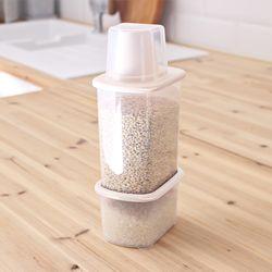 포켓 잡곡통 500ml+1000ml 2P세트 쌀통 씨리얼통